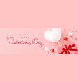 happy valentines day card design with balloon vector image vector image
