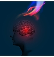 Human Brain Abstract Theme vector image