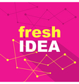 Idea concept creative background vector image vector image