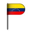isolated flag of venezuela vector image vector image