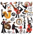 jazz musicians - cartoons vector image vector image