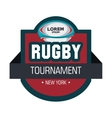 label rugby tournament ball graphic vector image vector image