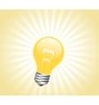 Lightbulb with light beams vector image