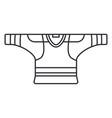 line icon hockey rugby baseball uniform vector image vector image