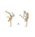 man is posing and dancing 3d model of man sport vector image