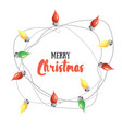 merry christmas greetin card with vector image