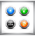 Metal web buttons eps10 vector image vector image