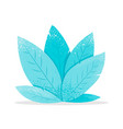 modern flat design fantasy mint leaves vector image vector image