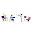 new ideas business people have great ideas flat vector image