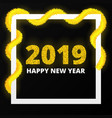 new year 2019 poster vector image