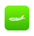 passenger airplane icon simple black style vector image vector image