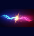 powerful wave fight against power with explosion vector image