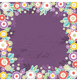 purple background of color flowers vector image vector image
