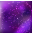 purple floral background vector image vector image