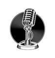retro microphone audio sound recording record vector image