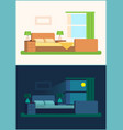 room interior bedroom set vector image
