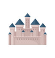 royal fortress with towers and conical roofs vector image vector image