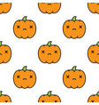 seamless halloween pattern with dead kawaii style vector image