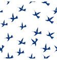seamless pattern flying little birds paradise vector image