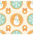 seamless pattern winter holiday cookies with vector image vector image