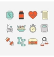 set of color line icons for personal vector image vector image
