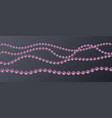 set of realistic pink pearl threads on a vector image