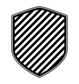 shield in monochrome and stripe design vector image vector image