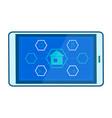 smart home mobile app flat vector image vector image