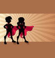super kids ray light silhouette vector image vector image