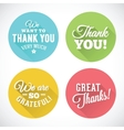 Thank You Abstract Flat Style Badges or Icons vector image vector image