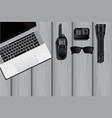 the equipment of a spy or private detective vector image vector image