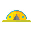 tourist tent - flat style icon on white background vector image