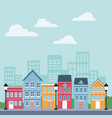 town scenery cartoons vector image