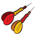 two darts dart clipart color on a white background vector image
