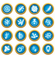 virus bacteria icons set simple style vector image vector image