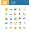 weather flat icon set and vector image