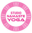 yoga name of yoga studio on a vector image