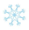 christmas snowflake snow winter element vector image
