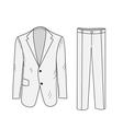 Suit Business sketch office suit vector image