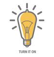 retro electric bulb vector image