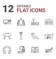 12 personal icons vector image vector image