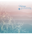 Abstract blue morning background vector image