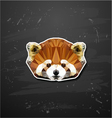 Abstract triangle polygonal Lesser panda