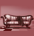 antique couch from victorian era vector image vector image