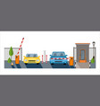 automatic rising up barrier automatic system gate vector image