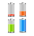 battery charge design full charge energy vector image