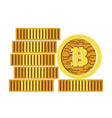 bitcoins stack cryptocurrency pile stock vector image