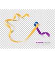 bladder cancer awareness month marigold and blue vector image vector image