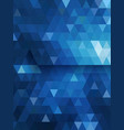 Blue triangle background diamond shape vector image vector image
