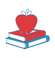 Books with apple fruit